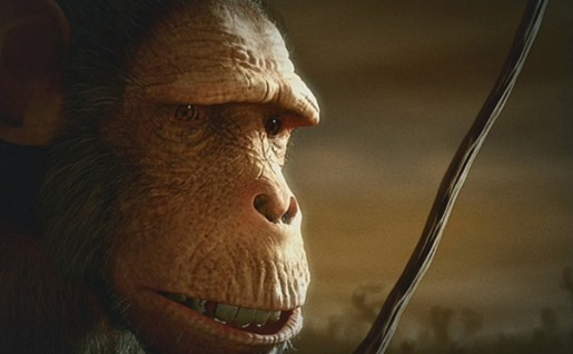 Chimpanzee in Quercus TV ad