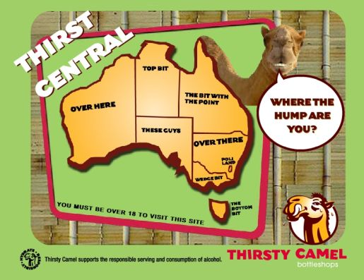 Thirsty Camel web site imagery