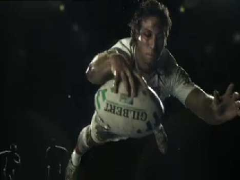 Gilbert ball in ITV Rugby World Cup ad