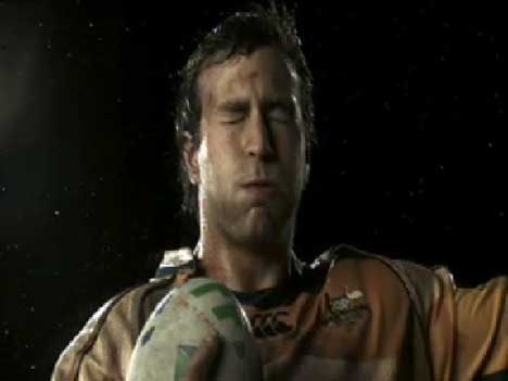 Wallaby holds ball in ITV Rugby World Cup ad
