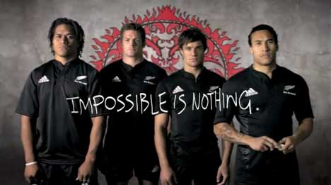 Richie McCaw, Dan Carter, Rodney So'olalo and Rico Gear