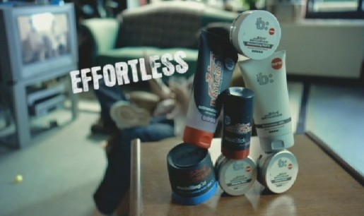 Screenshot from Brylcreem Effortless ad