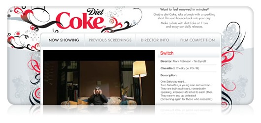 Diet Coke Films site