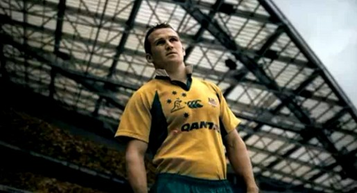 Matt Giteau in Qantas ad