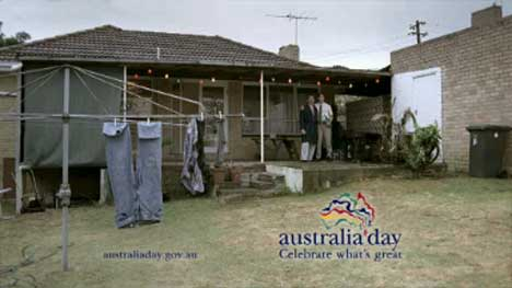 Scene from Australia Day TV ad