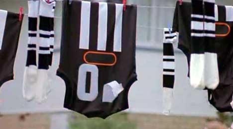 Football jersey loses number 10