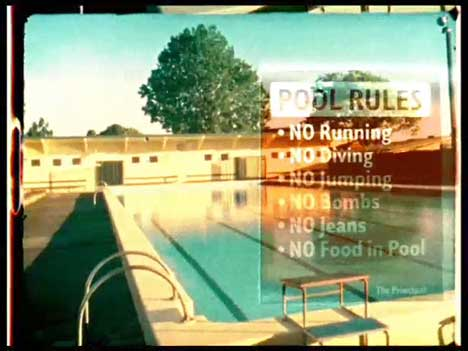 Pool rules in L&P TV ad