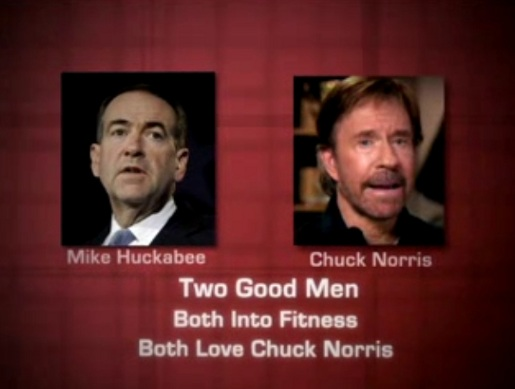 Mike Huckabee and Chuck Norris in Mitt Romney video