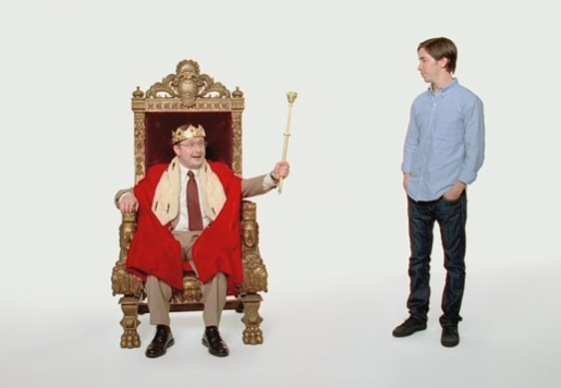 PC on the throne in Get A Mac Apple advertisement