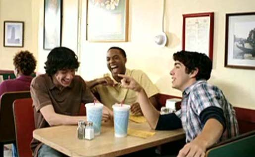 Teenagers in Ad Council So Gay Pizza Shop commercial