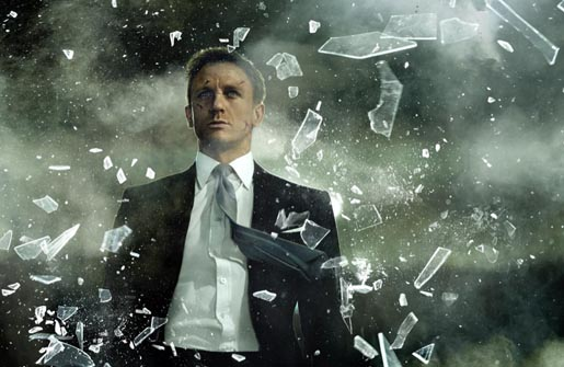 James Bond Close Up in Sony HD commercial