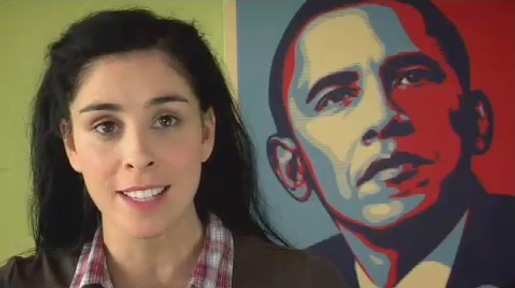 Sarah Silverman and Barack Obama in The Great Schlep