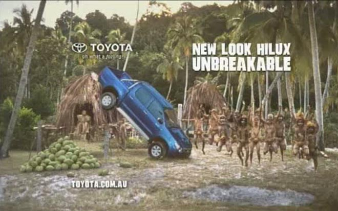 Toyota Hilux Unbrekable Coconuts TV ad