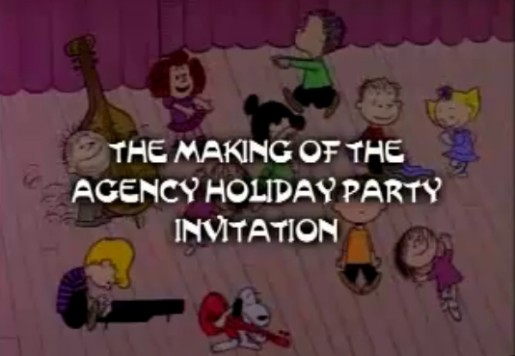 Charlie Brown Agency Holiday Party Invitation
