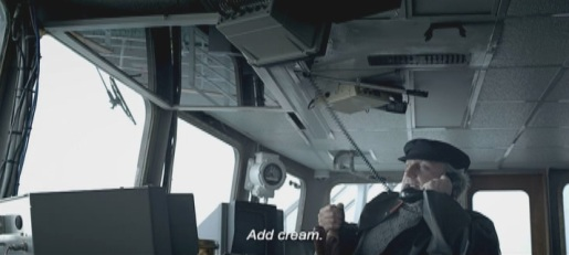 Ship's captain says Add Cream