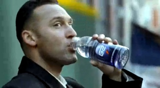 Derek Jeter drinks G2