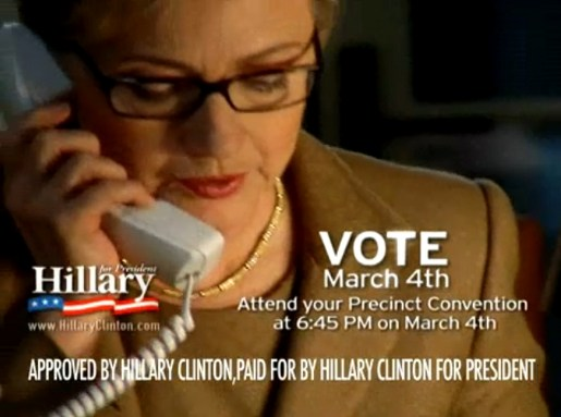 Hillary Clinton on the  Phone