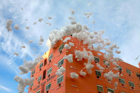 Miami Sun Hotel in Sony Foam TV ad