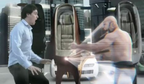 Virtual guard car alarm in Rexona Futurisk ad