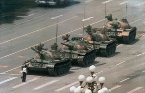 Tank man apprehends military