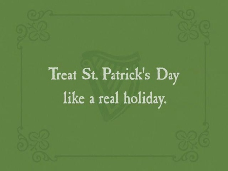Treat St. Patrick's Day like a real holiday