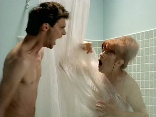 Shower scene in AMI commercial