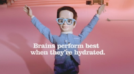 Brains dances in Drench TV ad
