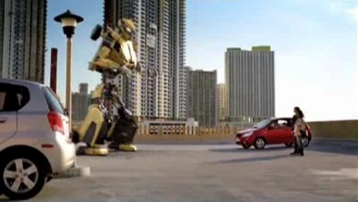 Dancing robot in Chevrolet Aveo commercial