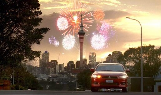 Mitsubishi Lancer with Fireworks in Auckland