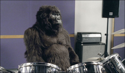 Cadbury Gorilla on Drums