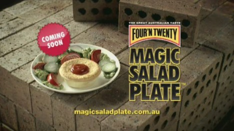 Four n Twenty Pie on Magic Salad Plate