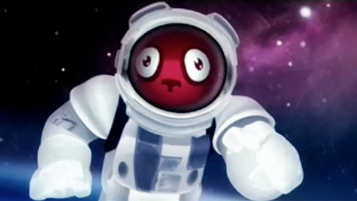 Astronaut in Tiji Balloon TV ad