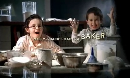 Molly & Jack's dad is a baker