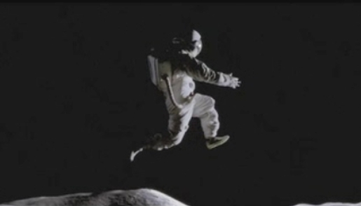 Astronaut in Nike Moon Jump