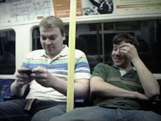 Nokia N-Gage Player on London Tube