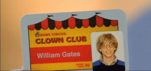 Bill Gates Shoe Circus Club card