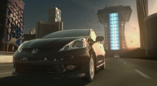 Mosquito shaped gas guzzlers in Honda Fit television commercial