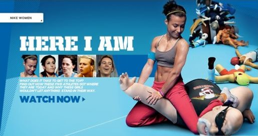 Nike Women Here I Am web site image