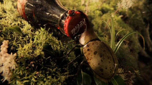 Beetle in Coca Cola Heist commercial