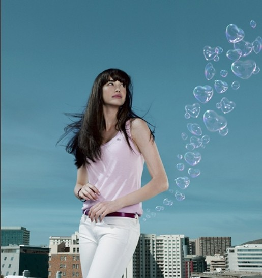 Sarah Stephens in Lacoste Love of Pink commercial
