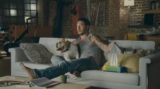 Tom Hardy in Kleenex commercial