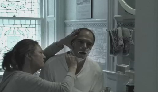 ALS Head and Shoulders ad features woman shaving husband