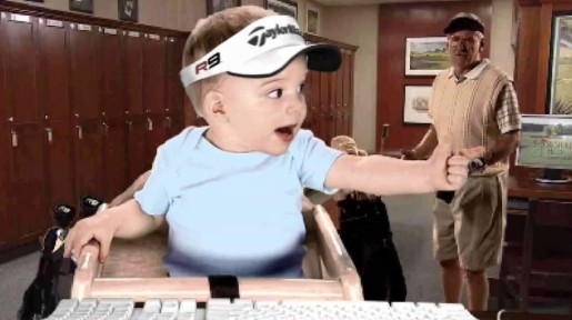 E Trade baby with Golfer