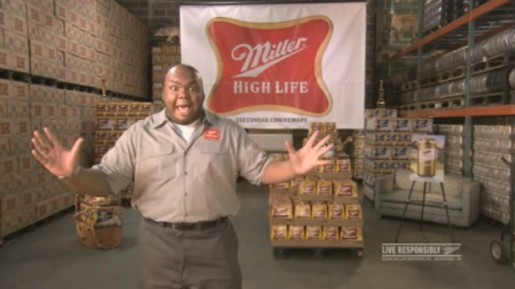 Windell Middlebrooks in Miller High Life one second ad