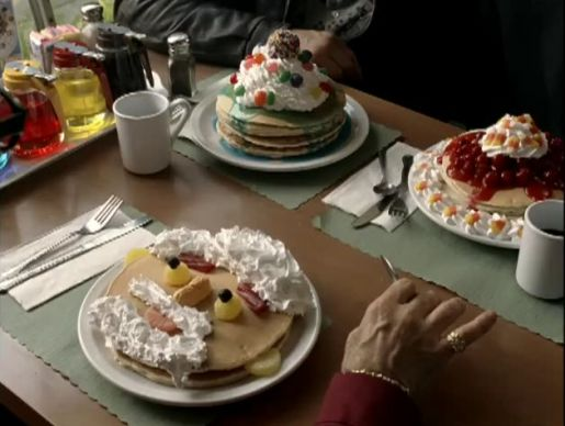 Pancake breakfast in Denny's Thugs commercial