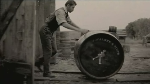 Johnnie Walker Striding Man with Barrel