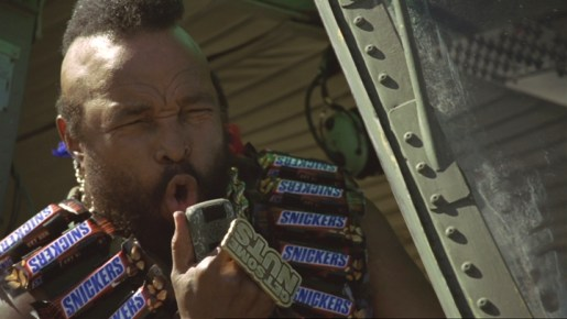 Mr T in Snickers Pool TV advert