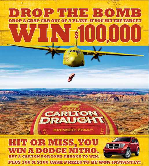 Carlton Draught Drop the Bomb promotion
