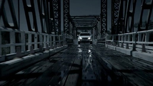 Lexus RX on bridge in We've Never Been Closer TV ad