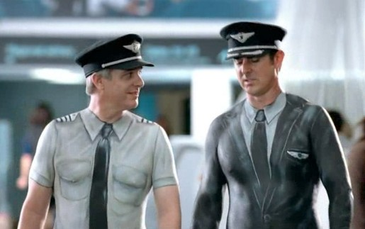 Airlines Body Paint Models - air new zealand pilots painted
